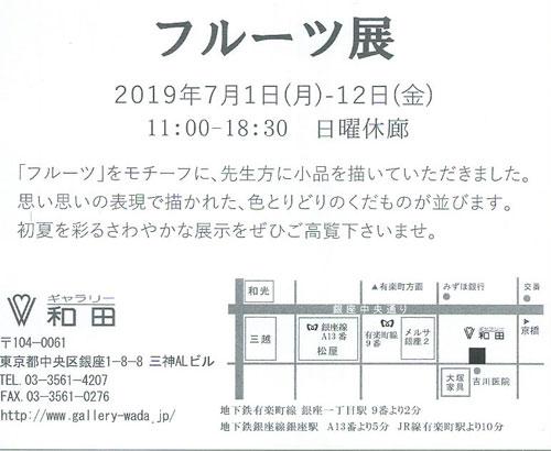 ギャラリー和田 フルーツ展